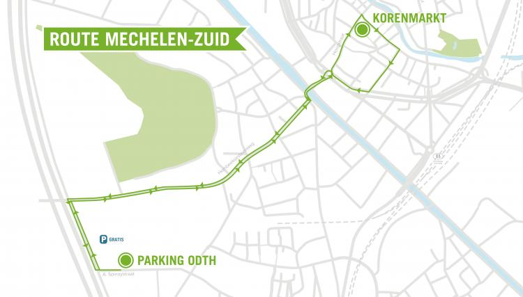 shopping shuttle route zuid kaartje